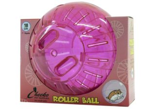 pink roller play ball for hamsters