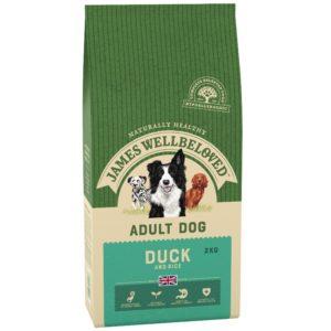 James Wellbeloved Adult Duck & Rice dog food 2kg