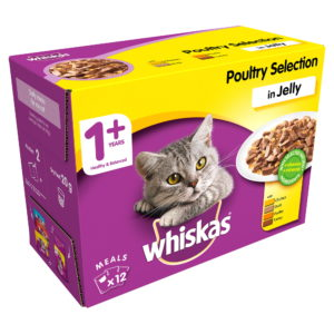 Whiskas 1+ Poultry Selection Cat Food