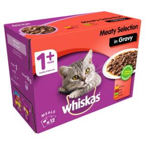 Whiskas Cat Food 1+ Meaty Selection in Gravy