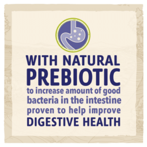 With natural prebiotic, proven to help improve digestive health.