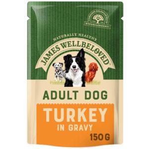 James Wellbeloved Adult Turkey Wet Food Pouches 150g