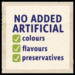 no artificial colours or preservatives