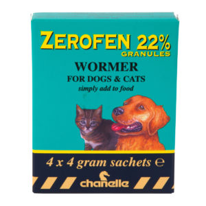 zerofen wormer for dogs and cats