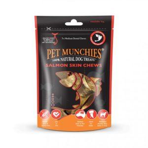 pet munchies wild salmon skin chews
