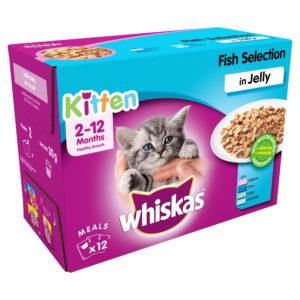 Whiskas Kitten Cat Food FIsh Selection