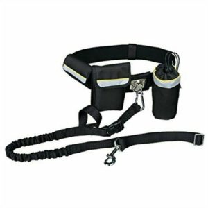 Trixie Hands Free Dog Lead Jogging Leash Black With Shock Absorber