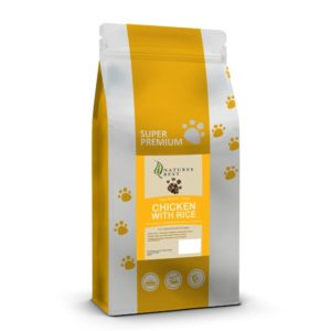 super premium puppy food with chicken and rice