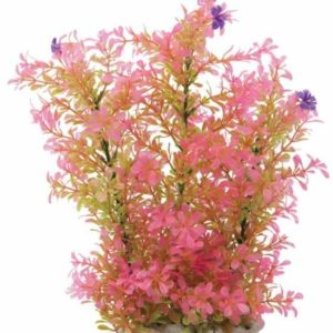 16″ Pink Plastic Plant and Base