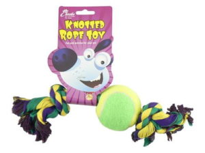 30cm rope and ball dog toy