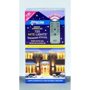 720 Warm White LED Sparkling Icicle Nite Lights Remote Control