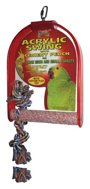 acrylic bird swing petworld ireland