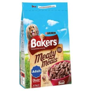 Bakers Meaty Meals with tasty Beef dog food Petworld Ireland