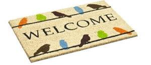 bird welcome mat
