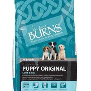 burns puppy lamb and rice