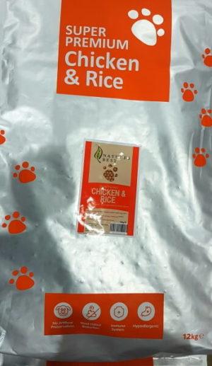 Natures Best Adult Chicken & Rice Regular 2kg