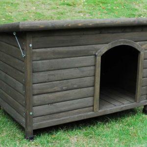 Cheeko Flatroof Cabin Outdoor Wooden Dog Kennel