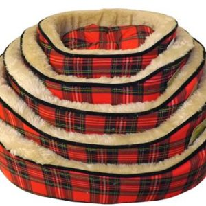 Cheeko Classic Red Tartan Bed