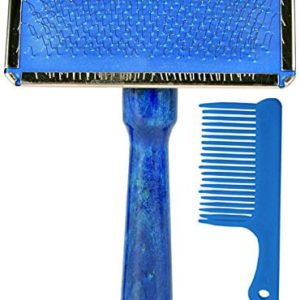 Trixie Slicker Brush With Plastic Handle Including Brush Cleaner Large