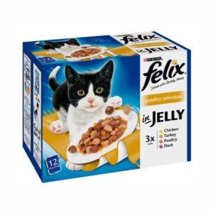 felix cat food poultry selection