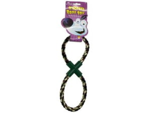 figure 8 rope tugger toy for dogs