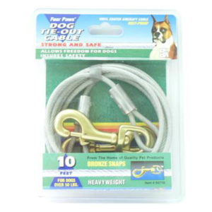 HEAVY WEIGHT TIE OUT CABLE 10FT SILVER