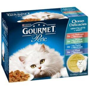 Gourmet cat food ocean delicacies