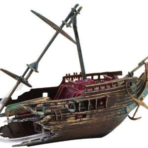 Penn-Plax Action-Air Half Shipwreck Ornament