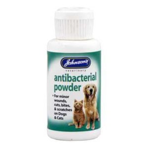 Antibacterial Powder for Dogs & Cats by Johnson's Veterinary Products Petworld Ireland