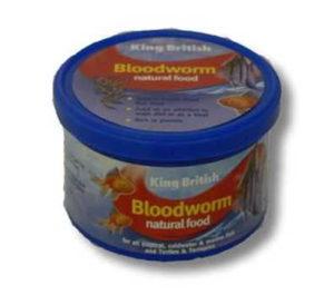 KB BLOODWORM NATURAL FOOD 9G TUB FRESH/DRIED