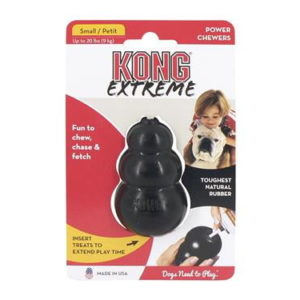 kong extreme black rubber dog toy