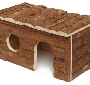 "Large Natural Wooden Hut 16"" Petworld Ireland"