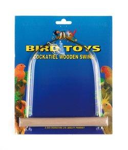 LB-37 7″ Wooden Cockatiel Swing