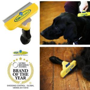 FURminator De-Shedding Brush For Large Dogs With Short Hair