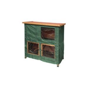 green rabbit hutch cover