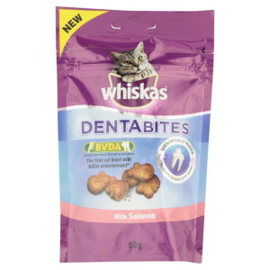 Whiskas Dentabites Adult Cat Treat with Salmon