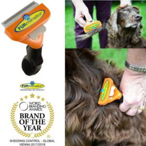 FURminator Long Hair DeShedding Brush For Medium Dogs