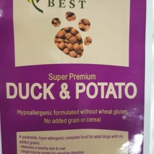 natures best duck & potato dog food