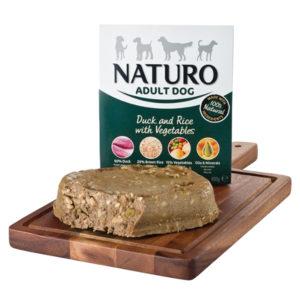 naturo duck,rice and veg dog food