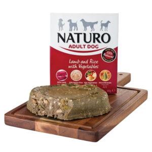 naturo lamb, rice and veg dog food