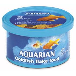 AQUARIAN GOLDFISH FLAKES 25GM