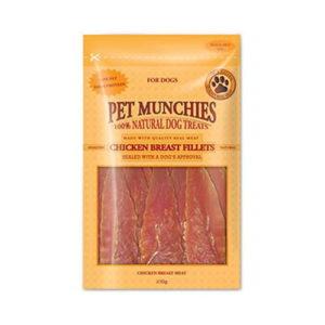 Pet Munchies Chicken Breast Fillets 100g