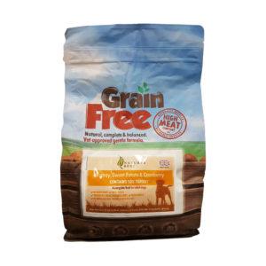 Grain Free Dog Food – Turkey, Sweet Potato & Cranberry 2kg