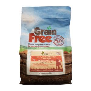 Grain Free Dog Food – Salmon, Trout Sweet Potato & Asparagus 2kg