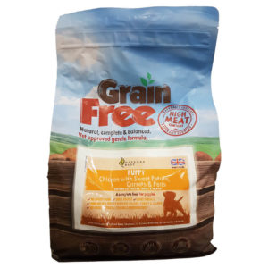 Grain Free Puppy Dog Food – Chicken with Sweet Potato, Carrots & Peas
