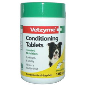 VETZYME DOG CONDITIONING TABLETS 100'S