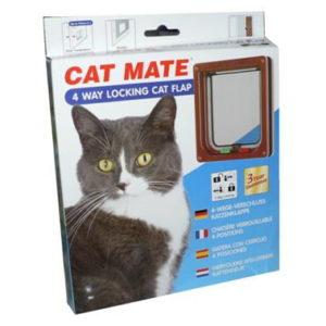 PETMATE 4-WAY LOCKING CAT FLAP BROWN