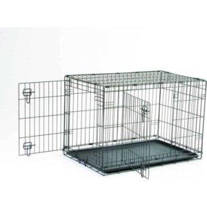 91cm Savic Dog Cottage Crate Black