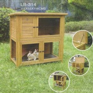 Rabbit Hutch and run with solid base