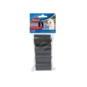 Trixie Pick Up Dirt Bags with 4 Rolls Medium Black